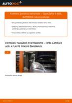 Kaip pakeisti ir sureguliuoti Amortizatorius OPEL ZAFIRA: pdf pamokomis