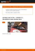 CITROËN Variklio oro filtras keitimas pasidaryk pats - internetinės instrukcijos pdf