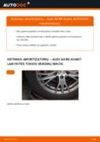 Kaip pakeisti Audi A4 B6 Avant amortizatorių: galas - keitimo instrukcija