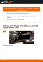 Kaip pakeisti Opel Corsa C spyruoklės: galas - keitimo instrukcija