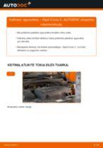 Kaip pakeisti Opel Corsa C spyruoklės: priekis - keitimo instrukcija