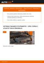 Kaip pakeisti Opel Corsa C pakabos statramstis: priekis - keitimo instrukcija
