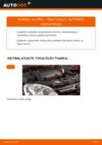 Kaip pakeisti Opel Corsa C oro filtro - keitimo instrukcija