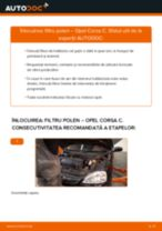 Cum să schimbați: filtru polen la Opel Corsa C | Ghid de înlocuire