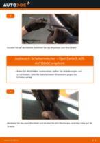 Empfehlungen des Automechanikers zum Wechsel von OPEL Opel Zafira B 1.8 (M75) Scheibenwischer