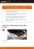 Comment changer : filtre d'habitacle sur Citroen Xsara Picasso - Guide de remplacement
