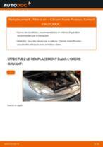 PDF manuel de remplacement: Filtre à air CITROËN XSARA PICASSO (N68)