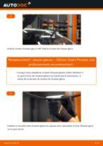 Comment changer : essuie-glaces avant sur Citroen Xsara Picasso - Guide de remplacement