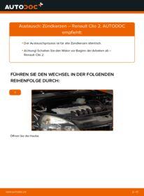Wie der Wechsel durchführt wird: Zündkerzen 1.2 Renault Clio 2 tauschen