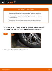 Wie der Wechsel durchführt wird: Koppelstange 1.9 TDI Audi A4 B6 Avant tauschen