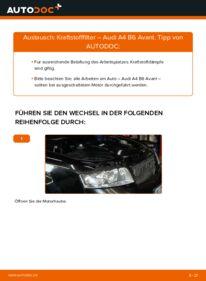 Wie der Wechsel durchführt wird: Kraftstofffilter 1.9 TDI Audi A4 B6 Avant tauschen