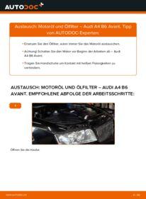 Wie der Wechsel durchführt wird: Ölfilter 1.9 TDI Audi A4 B6 Avant tauschen
