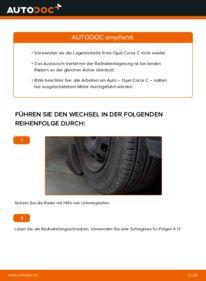 Wie der Wechsel durchführt wird: Radlager 1.2 (F08, F68) Opel Corsa C tauschen