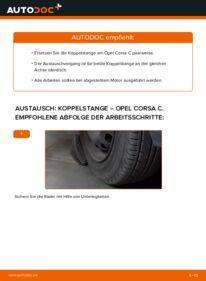 Wie der Wechsel durchführt wird: Koppelstange 1.2 (F08, F68) Opel Corsa C tauschen