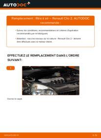 Comment effectuer un remplacement de Filtre à Air sur 1.2 Renault Clio 2