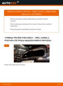 Ako vykonať výmenu: Pruženie na 1.2 (F08, F68) Opel Corsa C