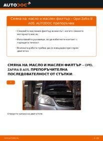 Как се извършва смяна на: Маслен филтър на 1.9 CDTI (M75) Opel Zafira B