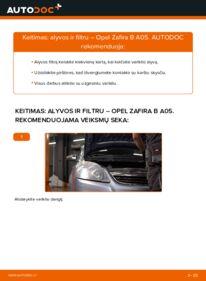 Kaip atlikti keitimą: 1.9 CDTI (M75) Opel Zafira B Alyvos filtras