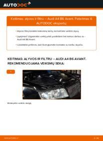 Kaip atlikti keitimą: 1.9 TDI Audi A4 B6 Avant Alyvos filtras