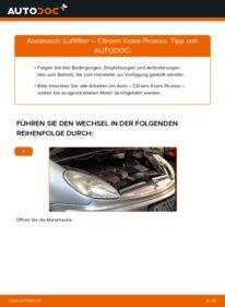 Wie der Wechsel durchführt wird: Luftfilter 2.0 HDi Citroen Xsara Picasso tauschen