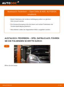 Wie der Wechsel durchführt wird: Stoßdämpfer 1.9 CDTI (M75) Opel Zafira B tauschen