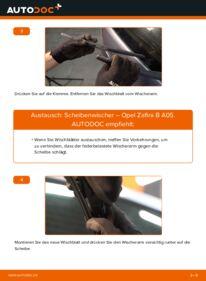 Wie der Wechsel durchführt wird: Scheibenwischer 1.9 CDTI (M75) Opel Zafira B tauschen