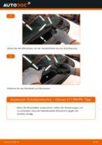 Wie wechselt man Wischblattsatz Front + Heckscheibe beim CITROËN C1 (PM_, PN_)
