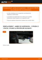 arrière + avant Amortisseurs CITROËN C1 (PM_, PN_) | PDF tutoriel de remplacement