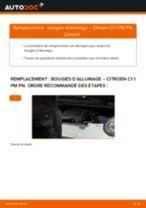 Comment changer : bougies d'allumage sur Citroen C1 1 PM PN - Guide de remplacement