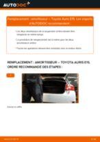 Comment changer Support, suspension du stabilisateur Toyota Yaris 3 - manuel en ligne