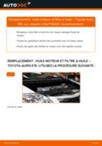 Comment changer : huile moteur et filtre huile sur Toyota Auris E15 - Guide de remplacement
