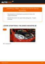 Skift af Slidindikator bremser PEUGEOT 107 - trin-for-trin vejledning