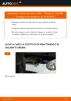 PDF manual de reemplazo: Filtro de aceite motor CITROËN C1 (PM_, PN_)