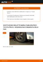 Come cambiare biellette barra stabilizzatrice della parte anteriore su Toyota Prius 2 - Guida alla sostituzione