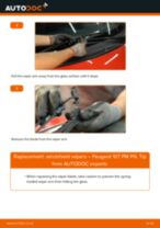 How to change front windshield wipers on Peugeot 107 PM PN – replacement guide