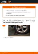 PDF replacement tutorial: Sway bar links LEXUS RX (MHU3_, GSU3_, MCU3_) rear and front