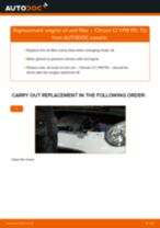 PDF replacement tutorial: Oil filter CITROËN C1 (PM_, PN_)