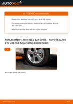 How to replace and adjust Sway bar links TOYOTA AURIS: pdf tutorial