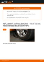 PDF replacement tutorial: Sway bar links VOLVO V50 (545) rear and front
