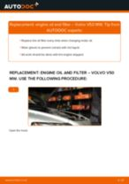 PDF replacement tutorial: Oil filter VOLVO V50 (545)