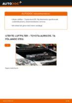 PDF guide för byta: Luftfilter TOYOTA AURIS (NRE15_, ZZE15_, ADE15_, ZRE15_, NDE15_)