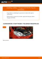 Skifte Hovedlys PEUGEOT 107: gratis pdf