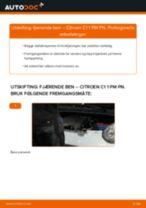 Mekanikerens anbefalinger om bytte av CITROËN CITROËN C1 (PM_, PN_) 1.4 HDi Bremseklosser
