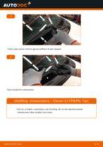 Slik bytter du vindusviskere fremme på en Citroen C1 1 PM PN – veiledning