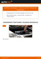 Hvordan bytte og justere Tennplugg TOYOTA AURIS: pdf håndbøker
