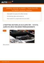 Slik bytter du motorolje og oljefilter på en Toyota Auris E15 – veiledning