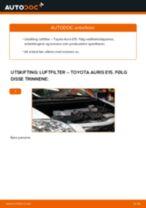 Slik bytter du luftfilter på en Toyota Auris E15 – veiledning