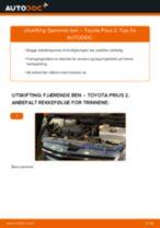 PDF med trinn for trinn-veiledning for bytte av TOYOTA PRIUS Hatchback (NHW20_) Støtdemper