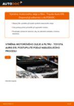 Jak vyměnit motorový olej a olejový filtr na Toyota Auris E15 – návod k výměně