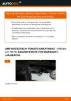 Πώς αλλαγη και ρυθμιζω Αμορτισέρ CITROËN C1: οδηγός pdf